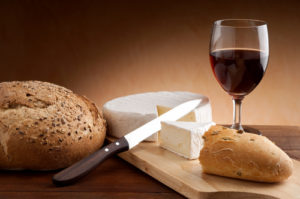 wine-cheese-bread