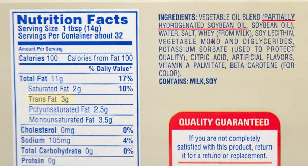 margarine-nutrition-label