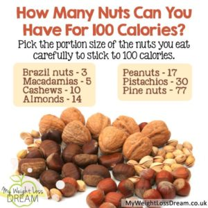 calories of nuts