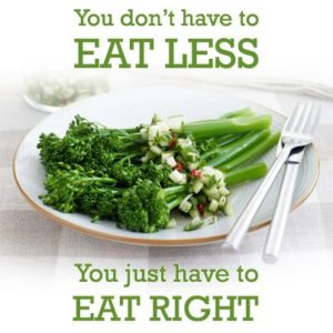 you dont have to eat less